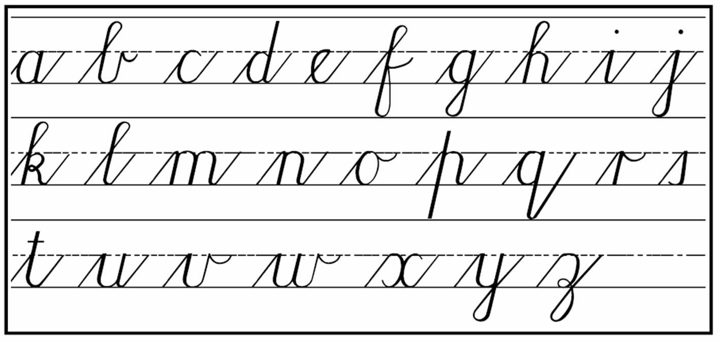 cursive - no power in the 'verse