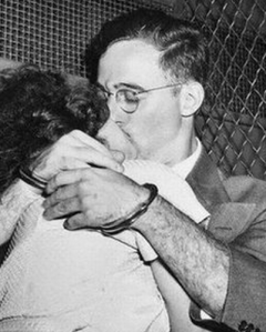 the rosenbergs in a rare embrace, but one so characteristic of their deep love for each other
