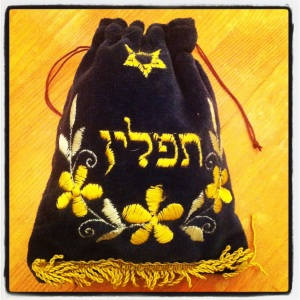 tefillin bag; photo by salem pearce (via instagram)