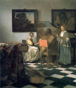 the concert by Johannes vermeer, one of the works of art stolen from the gardner museum