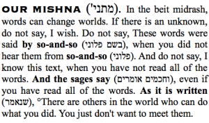original mishnah about the power of words and hevruta study, to be elucidated by buffy the vampire slayer