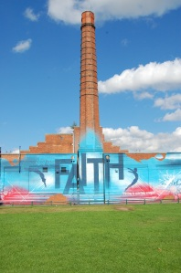 "mohammed ali's ""a leap of faith"" mural""; photo by salem pearce"