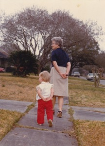 i started trying to walk in my grandmother's steps at an early age; photo by gay lee pearce